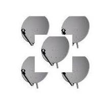 Kit Com 5 Antenas De 60 Cm Completas Com 5 Lnb Simples