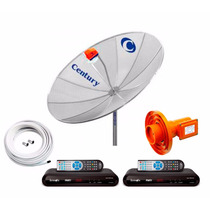 Antena Parabolica Century 190cm Digital Analógica Hd 2 Recep