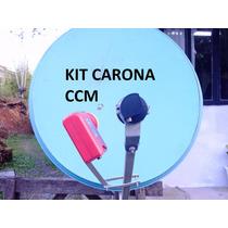 Kit Carona Para Por Lnb 43w+30w Ou 70w+61w Na Mesma Antena.