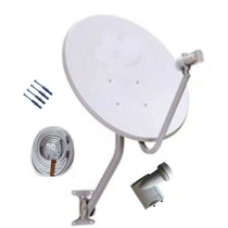 Antena Banda Ku 60cm Com Lnb Duplo Universal