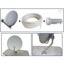 Antena Banda Ku 60cm - Kit Completo + Receptor 1005