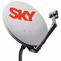 Antena Parabólica Sky + Lnb Duplo Faixa Larga Promocão Nova