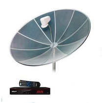 Antena Parabólica Completa De 1.70 Mts, Cabos, Lnb, Receptor