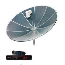 Antena Parabólica Completa De 1.90 Mts, Cabos, Lnb, Receptor