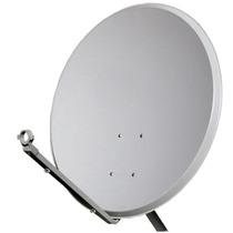 Antena 60cm Banda Ku C/ Lnb Duplo E 20 Mts De Cabo Rg6