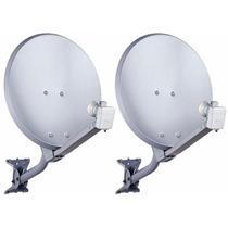 Kit Com 2 Antenas Banda Ku 60cm+lnb Simples