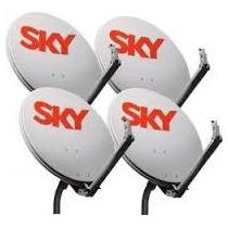 Kit Com 4 Antena Sky