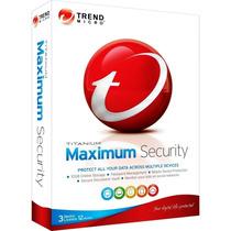 Trendmicro Maximum 2015 - Antivírus - 03 Pc, Android Ou Mac
