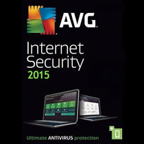 Avg Internet Security 2015 5 Pcs 3 Anos Original Até 02/2018