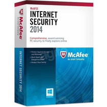 Mcafee Internet Security 2014 Licença 1ano - 3 Dispositivos