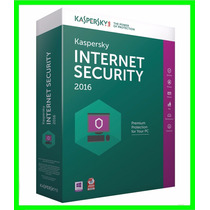 Kaspersky Internet Security 2016 - 1 Ano 3 Pcs Em Português