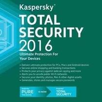 Anti-vírus Kaspersky Total Security Multi- 2016 - 3 Pcs1ano