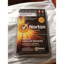 Nis Norton Internet Security 1 Ano 1 Pc Cartão De Renovação