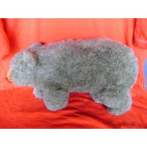 Urso Cinza Antigo De Pelúcia Lindo!!! (b.13)