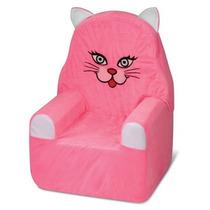 Sofá Infantil Bichofá De Espuma Cortex Gata Pink Rosa
