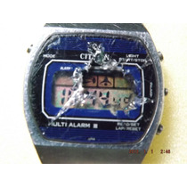 Raro Relógio Citizen Quartz Multi Alarme Lll