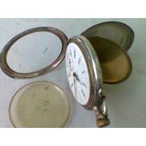 Antigo Relógio De Bolso Spiral Breguet De Prata P/ Coleção