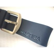Pulseira Relógio Cronógrafo Náutica 22mm Azul Nova