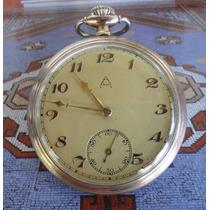 Relogio De Bolso Antigo Alpina Prata 900 - Coleção Avançada