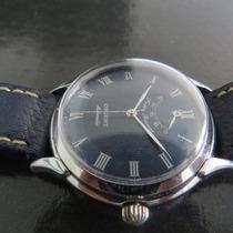 Relógio Orient R. Marcha Azul Prova Água Estojo Antigo