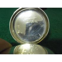 Remontoir Bolso Alemão Antigo Cilindre 6 Rubis Prata 800+pla