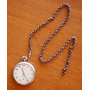 Relógio De Bolso Walthan Caixa De Níquel Com Corrente Swiss