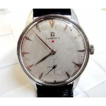 Relógio Omega Estrela Vermelha De Aço Gigante 45mm X 38mm
