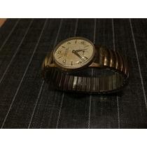 Antigo Relógio Corda Feminino Mirvaine Dourado - Funcionando