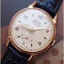 Rado Vintage A Corda Ouro Plaquet Anos 50 - Lance Livre !!!