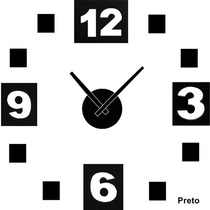 3d Relógio De Parede Diy - Faça Voçê Mesmo