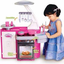 Cozinha De Brinquedo Completa - Forno/ Fogão/ Geladeira/ Pia