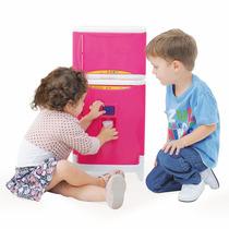 Geladeira Infantil Duplex Casinha Flor Com Som - Xalingo