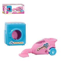 Kit Brinquedo Infantil Maquina De Lavar E Aspirador De Pó B