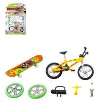 Bicicleta E Skate De Dedo Com Acessórios