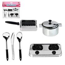 Kit Cozinha Infantil Com 1 Fogão E 5 Peças