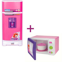 Geladeira Mágica Super Meg + Microondas Magic Toys