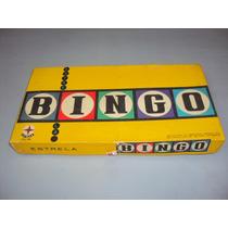 Brinquedo Antigo, Jogo Bingo Da Estrela Completo Na Caixa