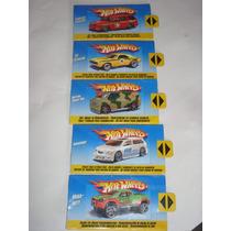 Brinquedo Antigo 5 Lote De Cards Hotwheels 1/64