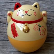 Cofre Gato Manekineko Amarelo - Gato Da Sorte