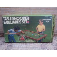 Brinquedo Antigo, Mesa De Snooker, Bilhar Da Estrela.