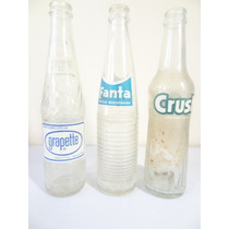 1 Antiga Garrafa Fanta Crush Grapette Anos 60!!! Coca Cola