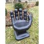 Cadeira Plastica Formata Mão Grande Decorativa - Preta