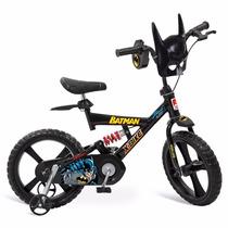 Bicicleta X-bike Batman Aro 14 Bandeirante Infantil Brinqued