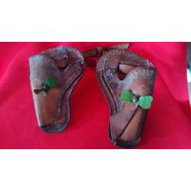 Revólver Espoleta Estrela Coldre Com Cinto Brinquedo Antigo