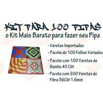 Kit Para 100 Pipas - Pipa - Papagaio - Pipas Atacado 043