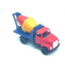 Cod-1086 Caminhão Betoneira Brinquedo Plastico Bolha 18 Cm