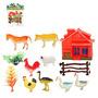 Animais Da Fazenda Com 8 Peças Acessórios Frete Grátis