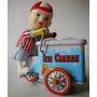 Brinquedo Antigo De Lata O Sorveteiro Ice Cream Anos 60