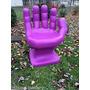 Cadeira Plastica Formata Mão Grande Decorativa - Roxa