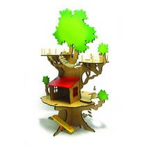Casa Na Árvore Brinquedo De Madeira
